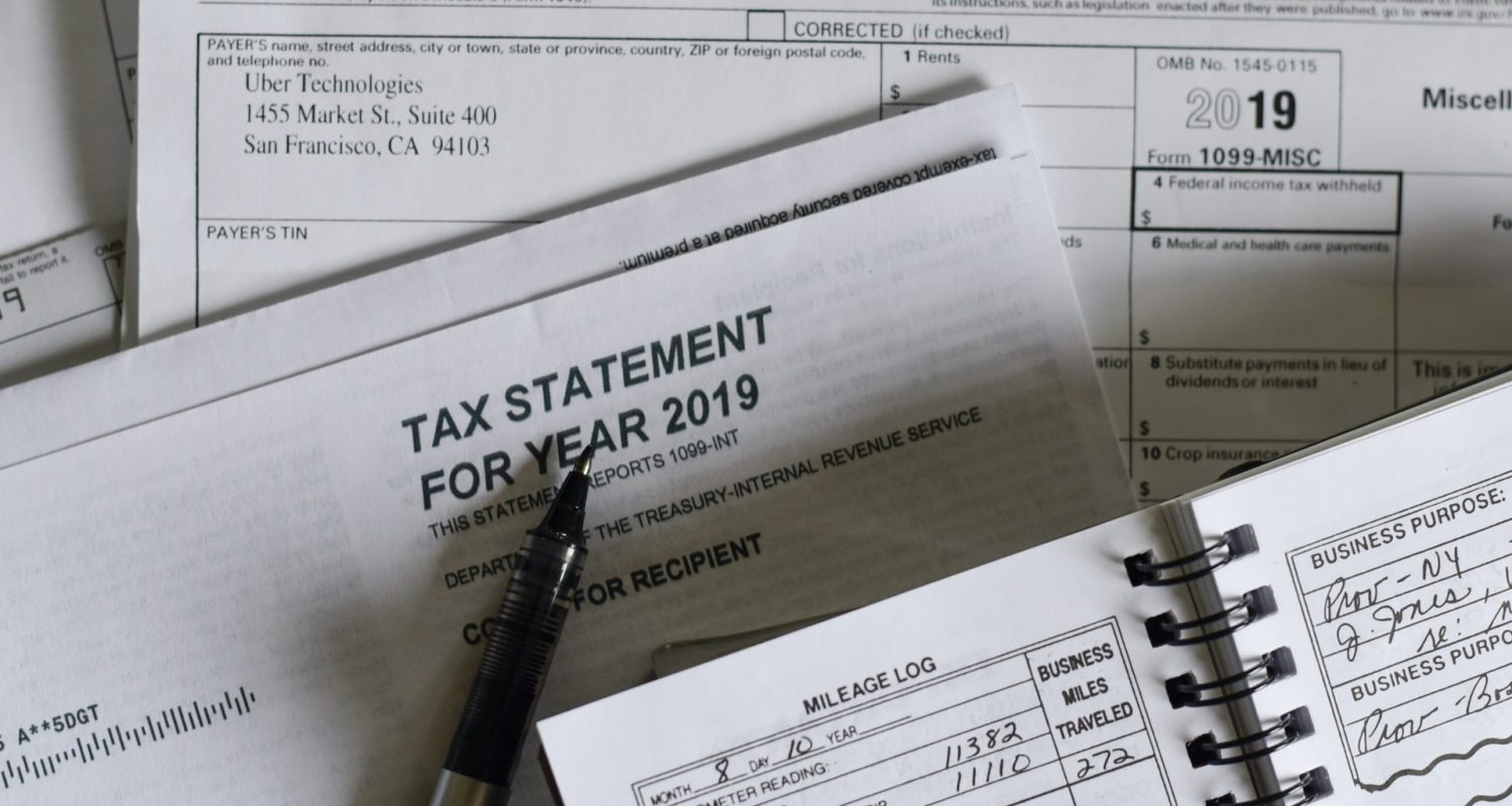 Pen on a taxes papers
